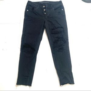 American Eagle Black Distresses Jeans